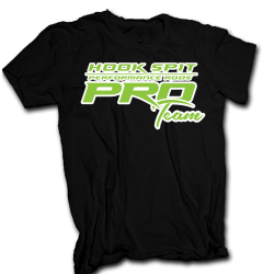 Men's HookSpit Pro Team Black/Green T-Shirt