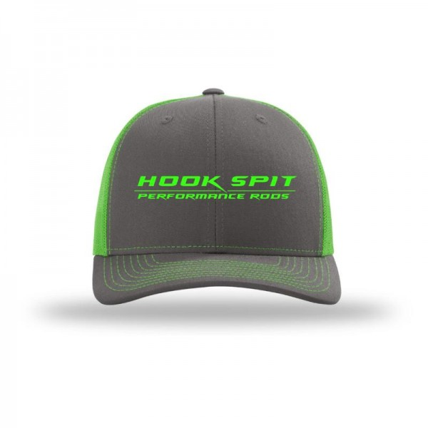 Hook Spit Performance Rods - Snap Back - Gray/Neon Green