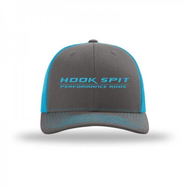 Hook Spit Performance Rods - Snap Back - Gray/Neon Blue
