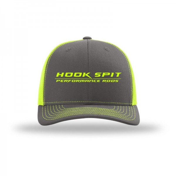 Hook Spit Performance Rods - Snap Back - Gray/Neon Yellow