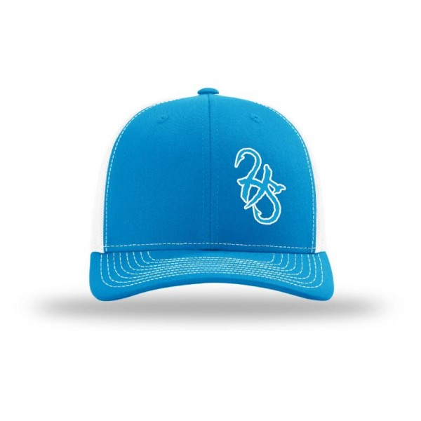 Hook Spit Fishing Gear - Snap Back - Royal Blue/White