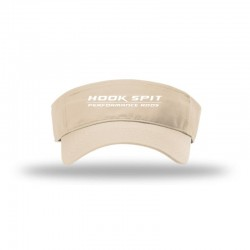 Hook Spit Performance Rods - Visor - Tan/White